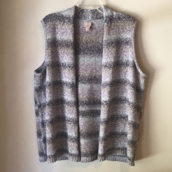Chico's Sweaters - Chico's Muted Purple Cardigan Vest